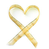 Heart shaped ribbon.  stock image