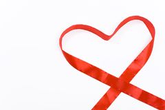 Heart shaped ribbon Stock Image