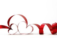 Heart shaped ribbon Stock Photos