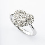 Heart-shaped ring Royalty Free Stock Images
