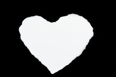 Heart shaped rip paper white Royalty Free Stock Photography