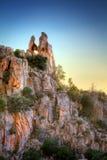 Heart shaped rock on mountain Stock Photos