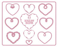 Heart shaped rope collection. Royalty Free Stock Image