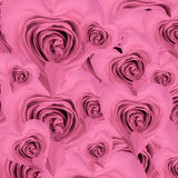 Heart shaped rose background Stock Image