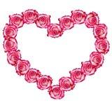 Heart shaped rose frame royalty free stock photo