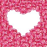 Heart shaped rose frame Royalty Free Stock Photos