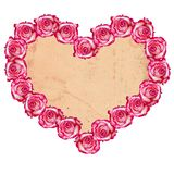 Heart shaped rose frame Royalty Free Stock Image