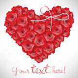 Heart shaped roses card Stock Photo