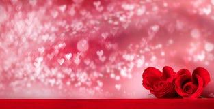 Heart shaped roses Royalty Free Stock Photo
