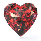 Heart shaped ruby Stock Image