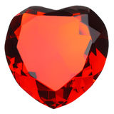 Heart Shaped Ruby Gemstone Royalty Free Stock Images