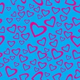 Heart shaped seamless pattern Stock Photos