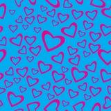Heart shaped seamless pattern Stock Photos