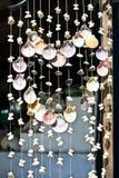 Heart shaped shell curtain Stock Photo