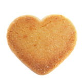 Heart-shaped shortbread biscuit Royalty Free Stock Images