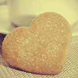 Heart-shaped shortbread biscuits Stock Images