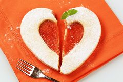 Heart Shaped Shortbread Cookie Royalty Free Stock Images
