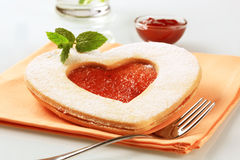 Heart shaped shortbread cookie Royalty Free Stock Photography