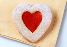 Heart shaped shortbread cookie Royalty Free Stock Photo