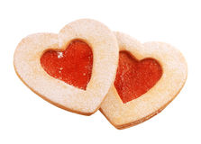 Heart Shaped Shortbread Cookies Royalty Free Stock Photography