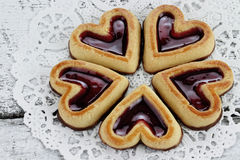 Heart Shaped Shortbread Cookies Royalty Free Stock Photo
