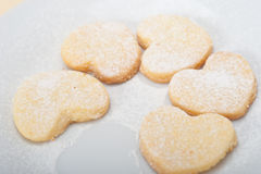 Heart shaped shortbread valentine cookies Royalty Free Stock Image