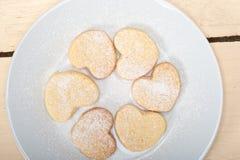 Heart shaped shortbread valentine cookies Stock Photo