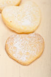 Heart shaped shortbread valentine cookies Stock Photography