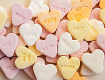 Heart shaped shugar candies Royalty Free Stock Photography