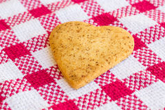 Heart-shaped shugar cookies close-up on a napkin Royalty Free Stock Photos