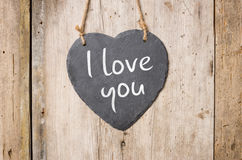 Heart-shaped sign with the inscription I love you Stock Photo