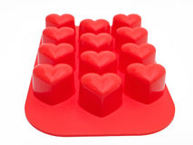Heart shaped silicone. Royalty Free Stock Photo