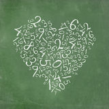 Heart shaped simple numbers Royalty Free Stock Image