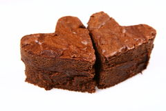 Free Heart Shaped Slices Of A Brownie Royalty Free Stock Photo - 13021995