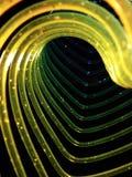Heart shaped slinky. Detail of a colorful heart shaped slinky Stock Photo