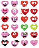 Heart-shaped smiley faces Stock Image