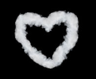 Heart shaped smoke Stock Photos