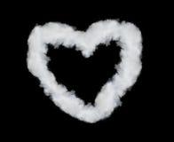 Heart shaped smoke Stock Photos