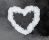 Heart shaped smoke Royalty Free Stock Photos