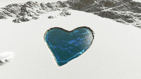 Heart shaped on snow Stock Photography