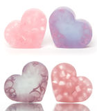 Heart-shaped soap bars Royalty Free Stock Photos