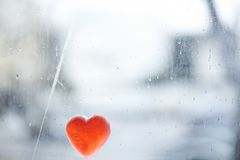 Rainy Heart Royalty Free Stock Image
