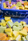 Heart-shaped soap Stock Images
