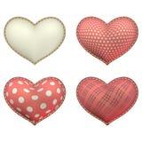 Heart-shaped soft toy set isolated. EPS 10 Stock Image