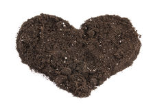Heart shaped soil Stock Image