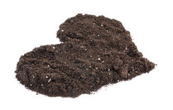 Heart shaped soil Royalty Free Stock Image