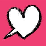 Heart-shaped speech bubble. Royalty Free Stock Photography