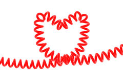Heart-shaped spiral Royalty Free Stock Images