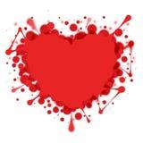 Heart-shaped splash  on white Royalty Free Stock Image