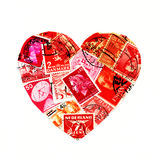 Heart shaped stamps Royalty Free Stock Images